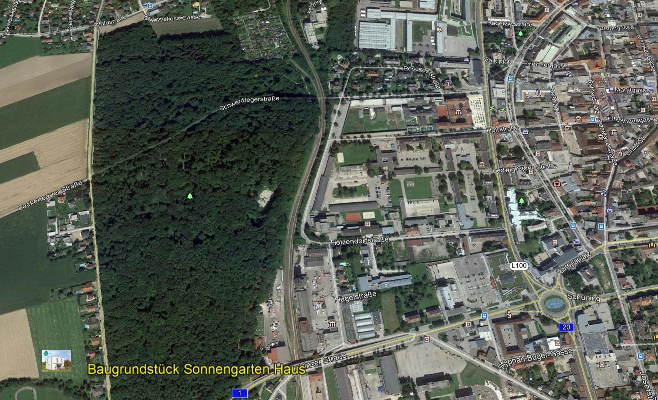 Luftbild SGH St. Pölten